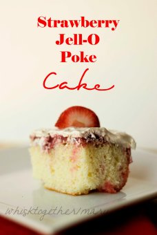 Strawberry Jello Poke Cake_3 on Whisk Together