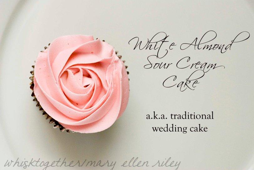 white almond sour cream wedding cake. Black Bedroom Furniture Sets. Home Design Ideas